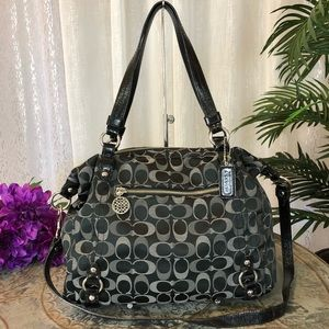 COACH SIGNATURE ALEXANDRA 3 COLOR SATCHEL F17580